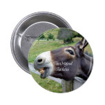 The Original Jackass Funny Donkey Mule Farm Animal Button