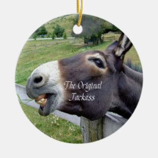 The Original Jackass Funny Donkey Mule Farm Animal Round Ceramic Decoration
