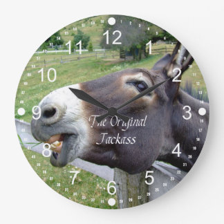 The Original Jackass Funny Donkey Mule Farm Animal Wall Clock