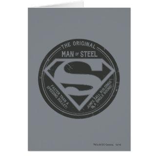 The Original Man of Steel Greeting Card