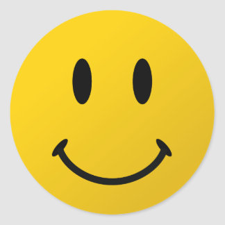 The Original Smiley Face Classic Round Sticker