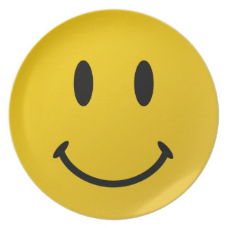 The Original Smiley Face Plate