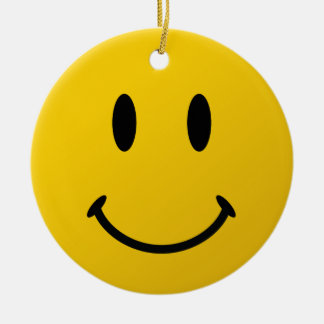 The Original Smiley Face Round Ceramic Decoration