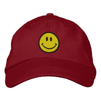 The Original Smiley Happy Face Embroidered Baseball Caps