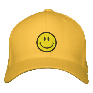 The Original Smiley Happy Face Embroidered Hats