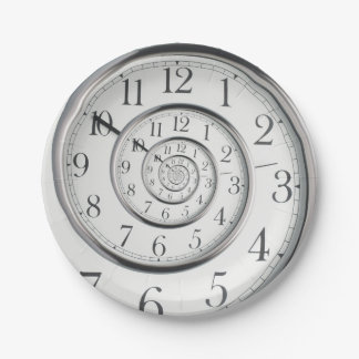 The Original Time Abstract Clock Paper Plate