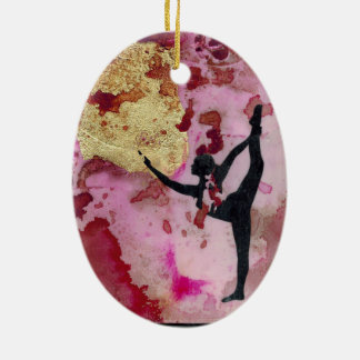 The Original Yoga Girl Ceramic Ornament