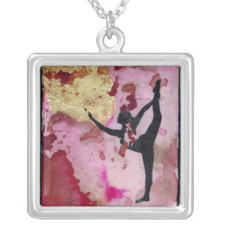 The Original Yoga Girl silver plated necklace