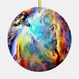 The Orion Nebula Round Ceramic Decoration