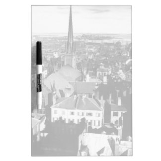 The ornamented spire of a church in Boston Dry Erase Board