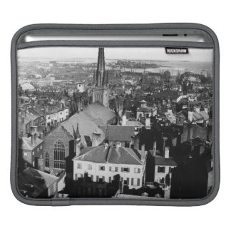 The ornamented spire of a church in Boston iPad Sleeve