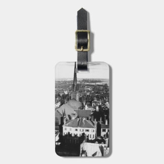 The ornamented spire of a church in Boston Luggage Tag