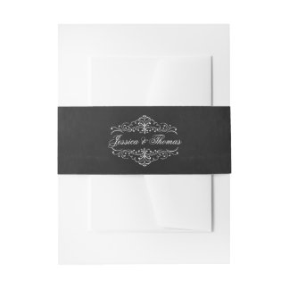 The Ornate Chalkboard Wedding Collection Invitation Belly Band
