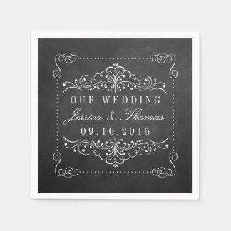 The Ornate Chalkboard Wedding Collection Paper Napkins
