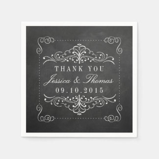 The Ornate Chalkboard Wedding Collection Paper Serviettes