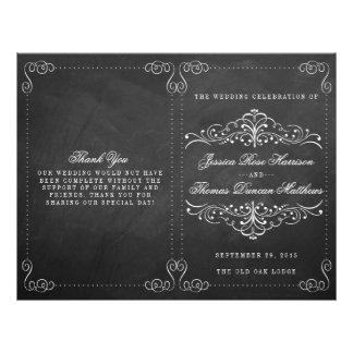 The Ornate Chalkboard Wedding Collection - Program 21.5 Cm X 28 Cm Flyer