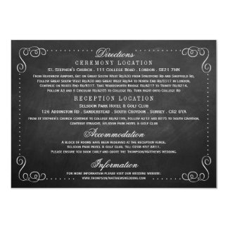 The Ornate Chalkboard Wedding - Detail Card
