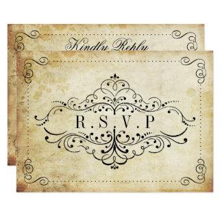 The Ornate Flourish Vintage Wedding Collection 9 Cm X 13 Cm Invitation Card