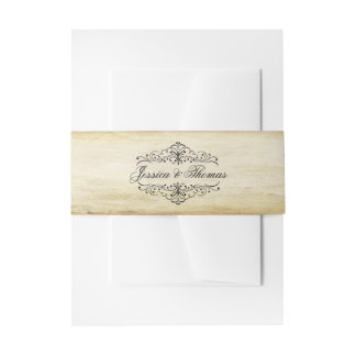 The Ornate Flourish Vintage Wedding Collection Invitation Belly Band