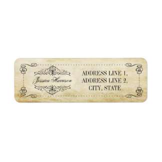 The Ornate Flourish Vintage Wedding Collection Return Address Label