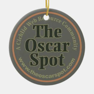 The Oscar Spot Double-Sided Ceramic Round Christmas Ornament