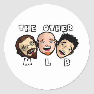 The Other MLB Cartoon Logo Round Sticker