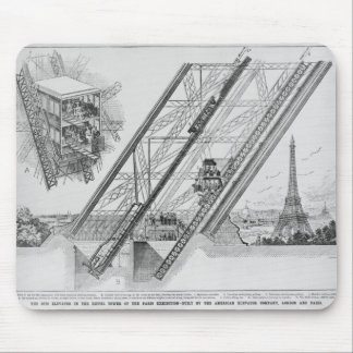 The Otis Elevator in the Eiffel Tower Mouse Mat