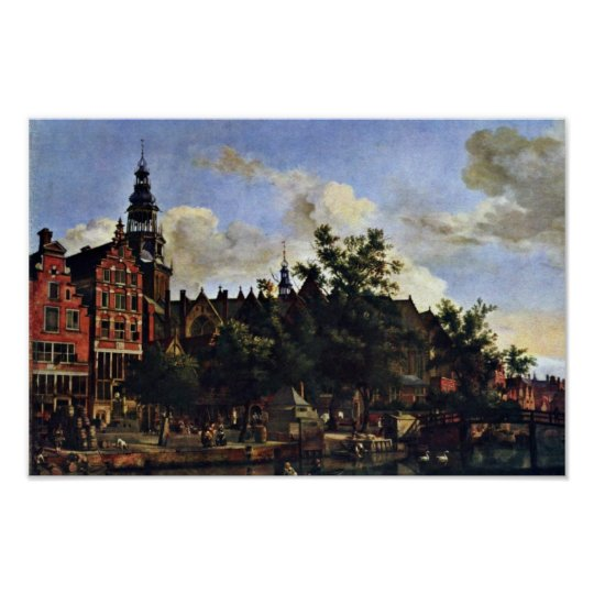 The Oudezijds Voorburgwal And The Oude Kerk In Ams Poster