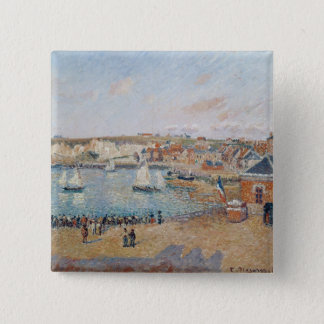 The Outer Harbour at Dieppe, 1902 15 Cm Square Badge