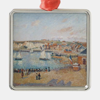The Outer Harbour at Dieppe, 1902 Silver-Colored Square Decoration