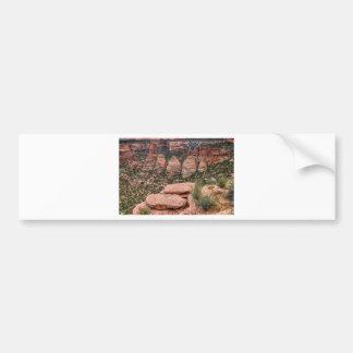 The Ovens Rock Formation Western Landscape Bumper Sticker