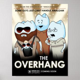 The Overhang Dental Art Humor Poster