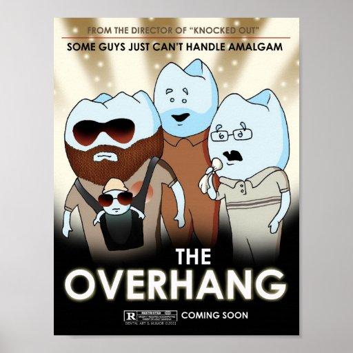 """The Overhang"" Dental Art & Humor Poster"