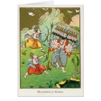 The Overthrow of Ravana Greeting Card