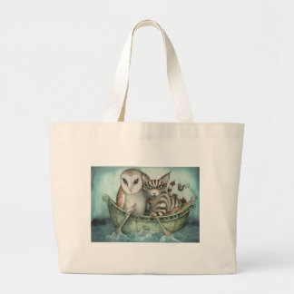 the owl and the pussy-cat tote bag