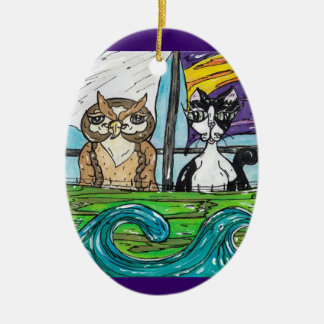 The Owl and the Pussycat Christmas Ornament
