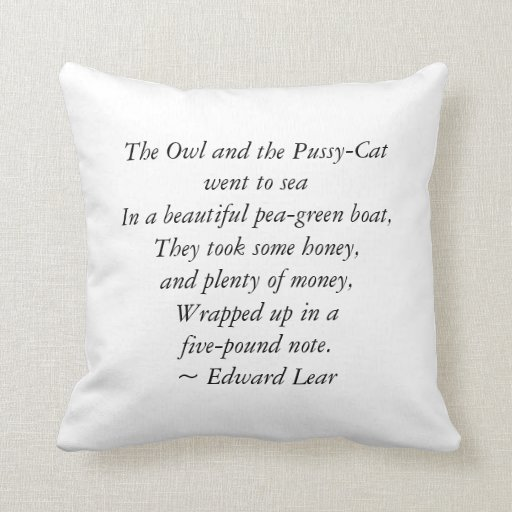 The Owl and the Pussycat - Cushion/Pillow