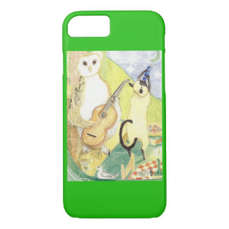 The Owl And The Siamese Cat iPhone 7 Case