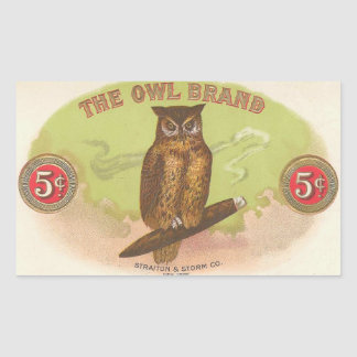 The Owl Brand Rectangular Sticker