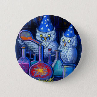 The Owl Chemists 6 Cm Round Badge