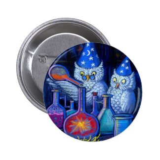 The Owl Chemists 6 Cm Round Badge