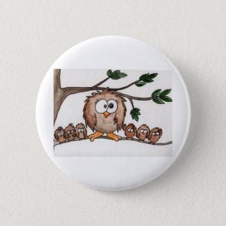 The Owl Family 6 Cm Round Badge