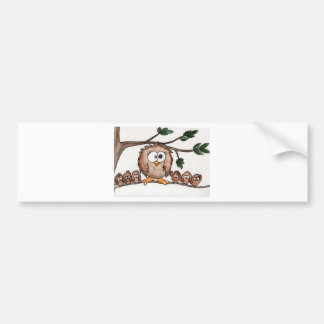 The Owl Family Bumper Sticker