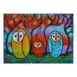 The Owl Family Fall Greeting Card