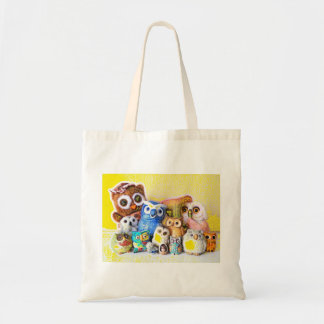 The Owl Family Canvas Bags