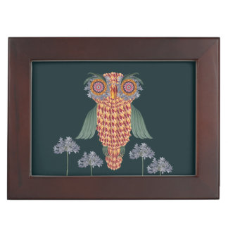 The Owl of wisdom and flowers Keepsake Box
