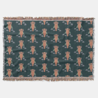 The Owl of wisdom and flowers Throw Blanket