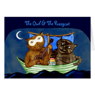 The Owl & The Pussycat Card