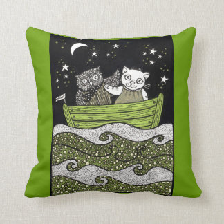 The Owl the Pussycat Love Throw Pillow
