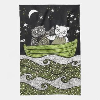 The Owl & the Pussycat Tea Towel
